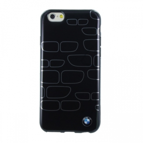 BMW TPU Case Kidney Pattern for iPhone 6 Black/Silver