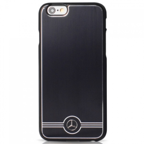 Mercedes Pure Line Hard Case Aluminium iPhone 6/6S Black
