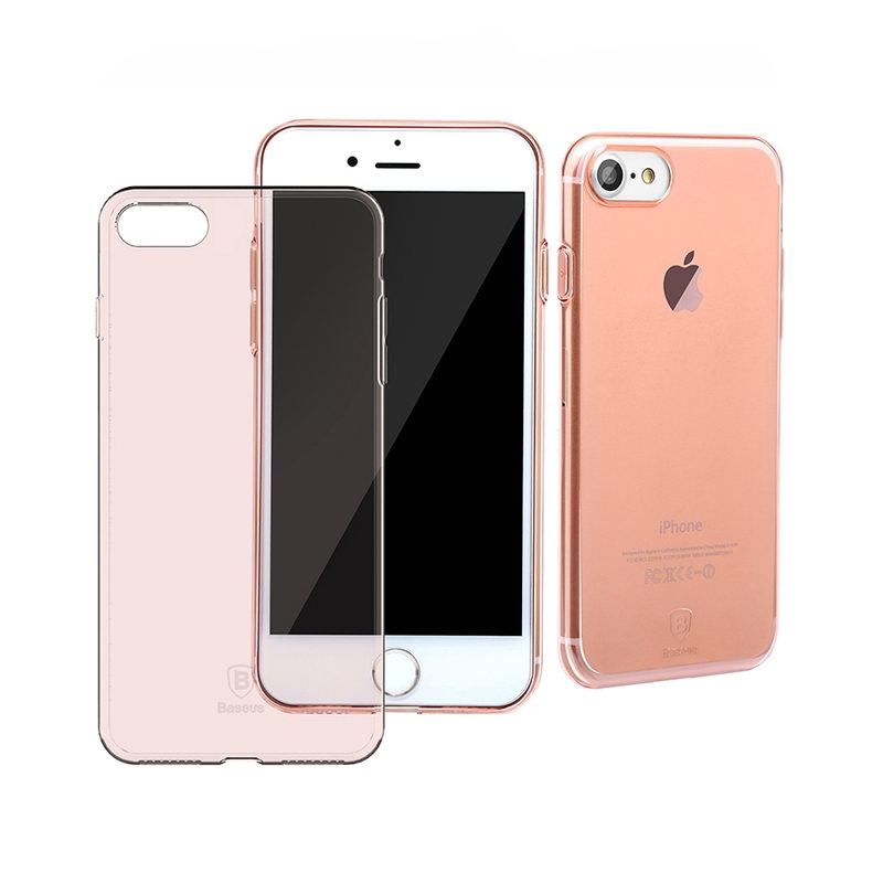 ЧЧехол-накладка для Apple iPhone 7 Baseus Simple - Rose