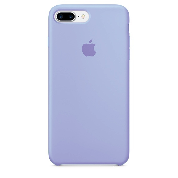 Apple Silicone Case for iPhone 7 Plus - Light Violet (Hi-Copy)