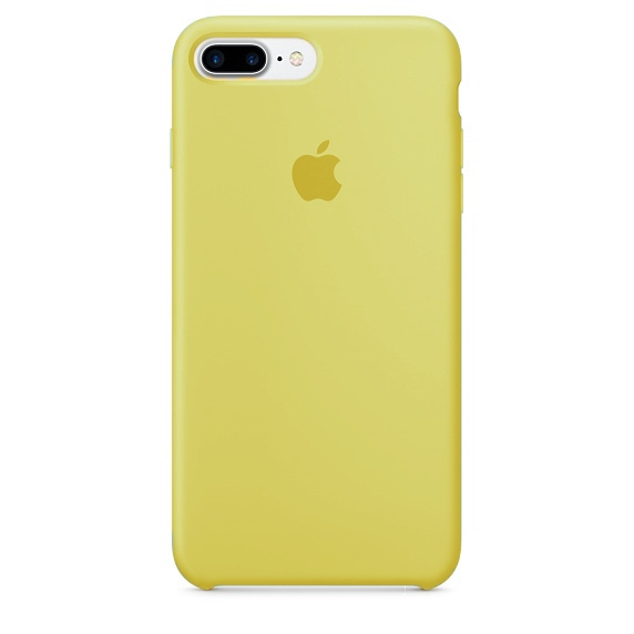 Apple Silicone Case for iPhone 7 Plus - Yellow (Hi-Copy)