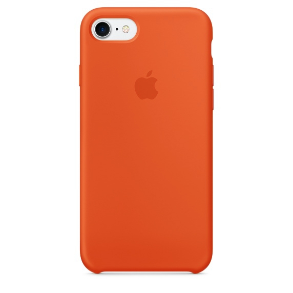 Apple Silicone Case for iPhone 7 Plus - Orange (Hi-Copy)