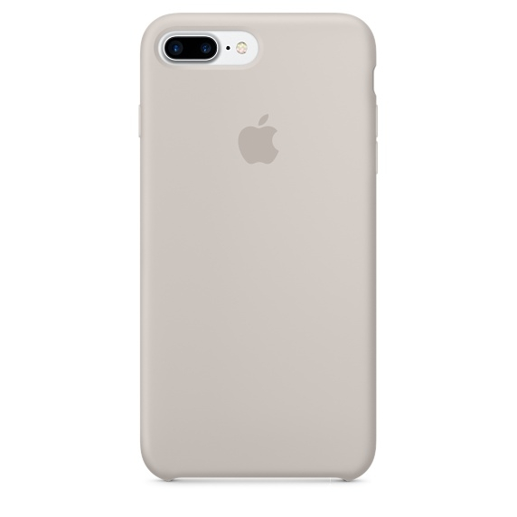 Apple Silicone Case for iPhone 7 Plus - Stone (Hi-Copy)