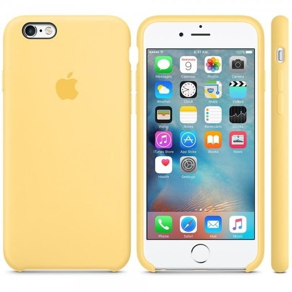 Apple Silicone Case for iPhone 6/6s - Yellow (Hi-Copy)