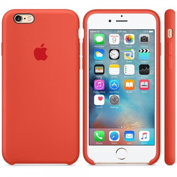 Apple Silicone Case for iPhone 6/6s - Orange (Hi-Copy)