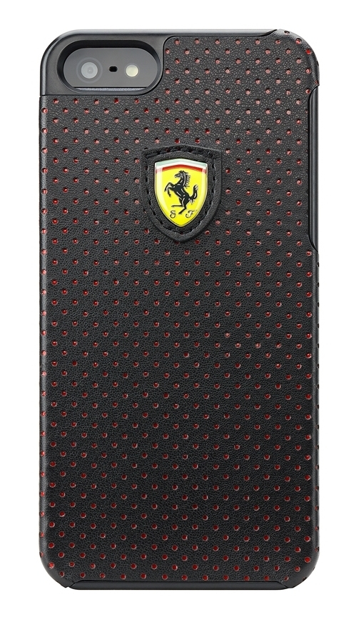 CG Mobile Ferrari Hard Case Challenge Perforated Collection Black for iPhone 5/5S (FECHFPHCP5)