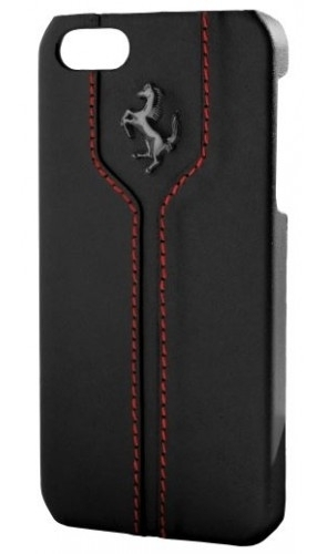 CG Mobile Ferrari Leather Hard Case Montecarlo Collection Black for iPhone 5/5S (FEMTHCP5BL)