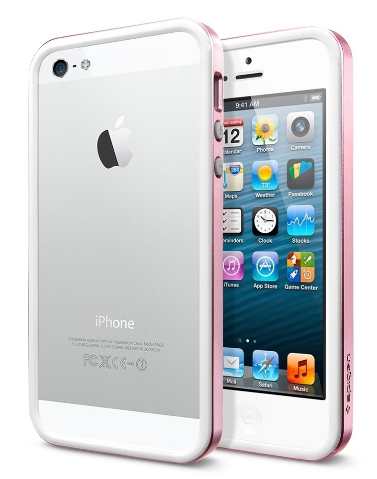 SGP Case Neo Hybrid EX Slim Metal Series Metal Pink for iPhone 5/5S (SGP10034)