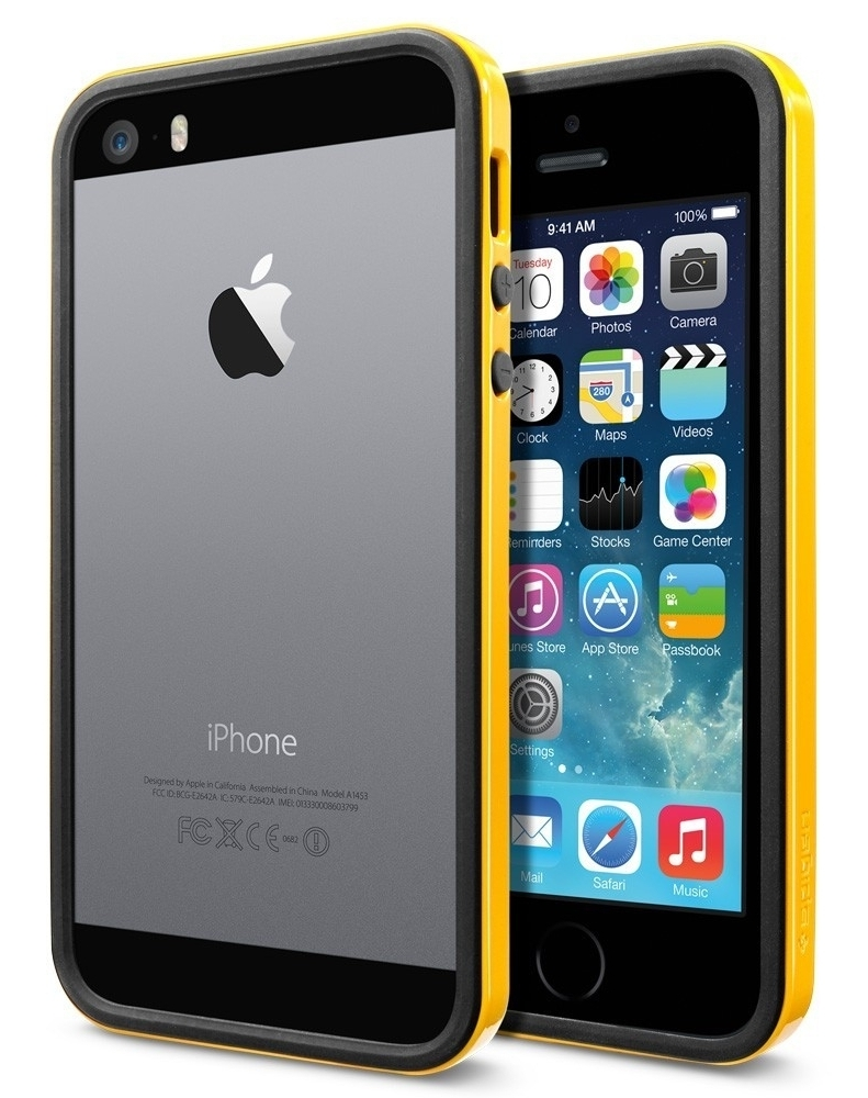 SGP Case Neo Hybrid EX Slim Vivid Series Reventon Yellow for iPhone 5/5S (SGP10028)
