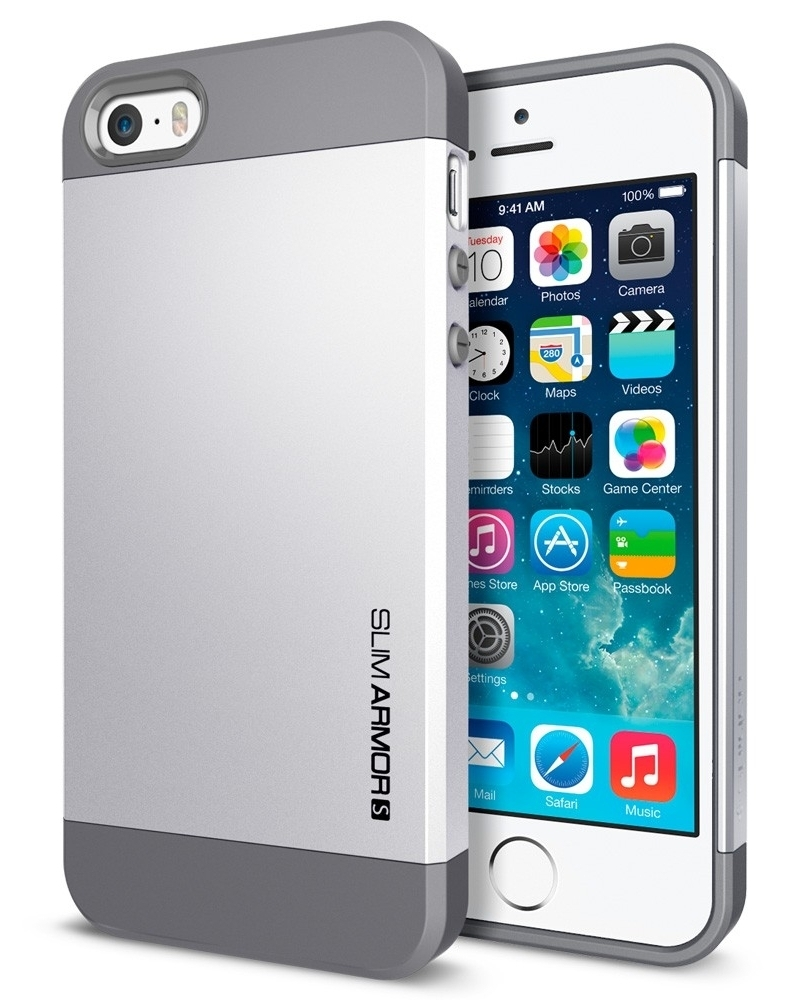 SGP Case Slim Armor S Satin Silver for iPhone 5/5S (SGP10476)