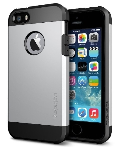 SGP Case Tough Armor Satin Silver for iPhone 5/5S (SGP10491)