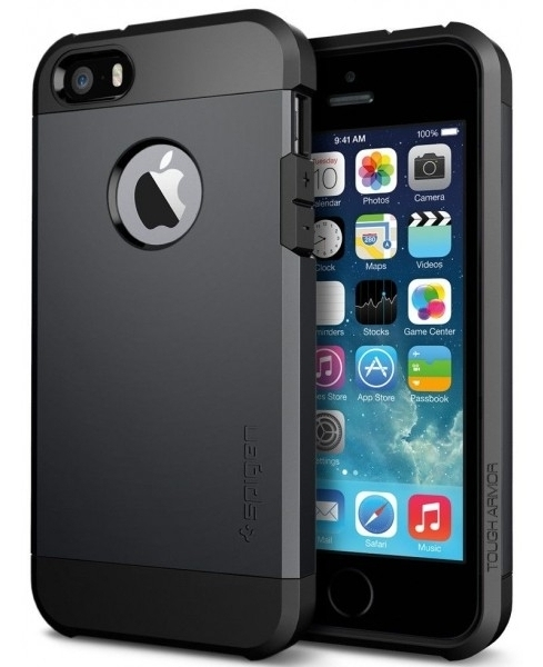 SGP Case Tough Armor Smooth Black for iPhone 5/5S (SGP10492)