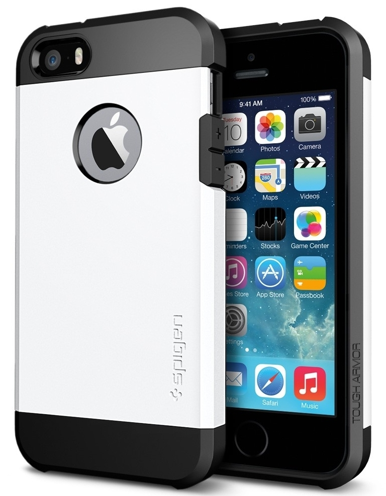 SGP Case Tough Armor for iPhone 5/5S Smooth White (SGP10493)