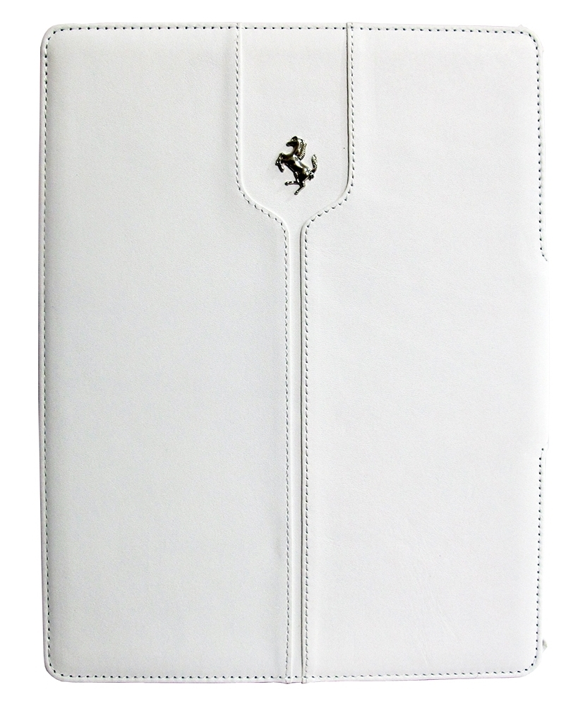 CG Mobile Ferrari Leather Folio Case Montecarlo Collection White for iPad Air (FEMTFCD5WH)