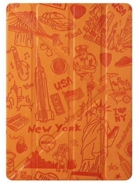 OZAKI O!coat-Travel New York for iPad Air Orange (OC111NY)