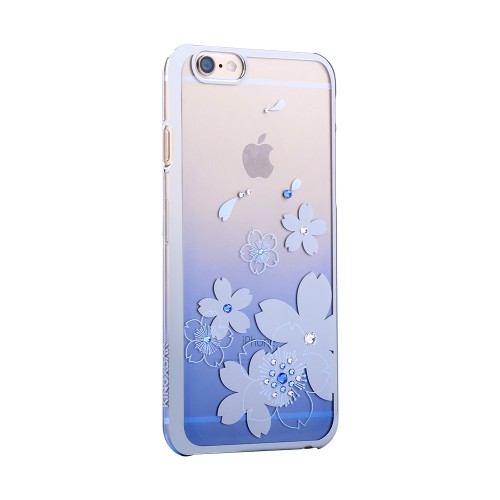 Kingxbar Flowers for iPhone 6/6S Blue