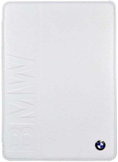BMW Folio Case для Apple iPad Mini/ Mini 2/  Mini 3 Book Type Debossed Logo – White