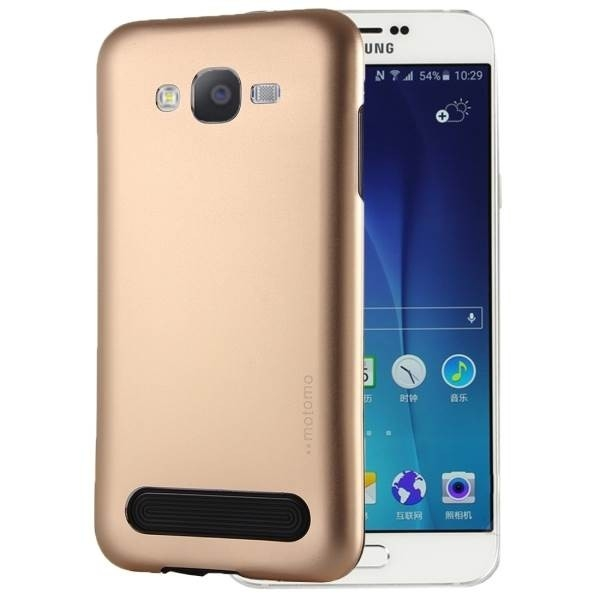 Чехол MOTOMO Armor Metal + TPU Protective Case for Samsung Galaxy E5 - Gold
