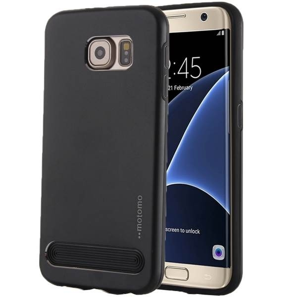 Чехол MOTOMO Armor Metal + TPU Protective Case for Samsung Galaxy S7 Edge - Black