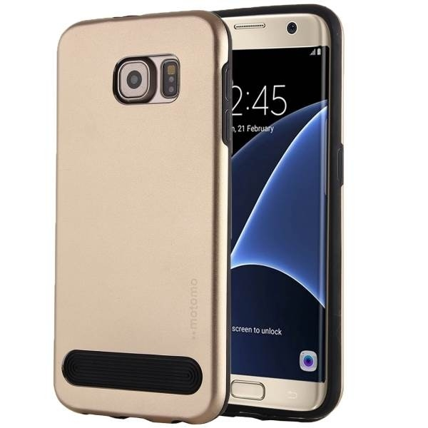 Чехол MOTOMO Armor Metal + TPU Protective Case for Samsung Galaxy S7 - Gold
