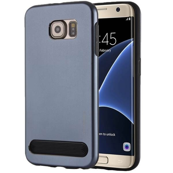 Чехол MOTOMO Armor Metal + TPU Protective Case for Samsung Galaxy S7 - Dark Blue