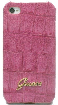 Guess Croco Back Cover for iPhone 4/4S pink