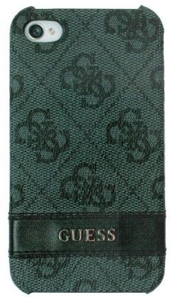 Guess Croco Back Cover for iPhone 4/4S dark grey