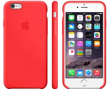 Apple Silicone Case for iPhone 6/6s - red (Hi-Copy)