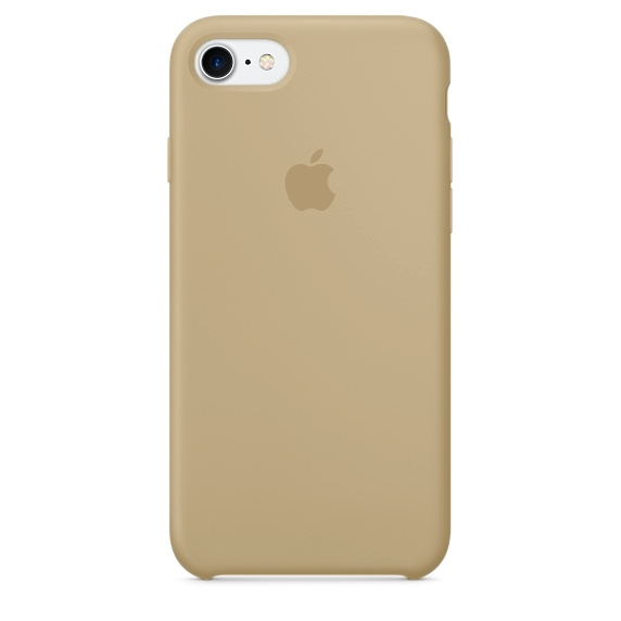 Apple Silicone Case for iPhone 7 - Beige (Hi-Copy)