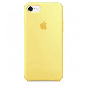 Apple Silicone Case for iPhone 7 - Yellow (Hi-Copy)