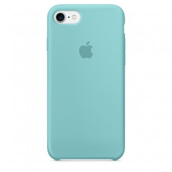 Apple Silicone Case for iPhone 7 - Sea Blue (Hi-Copy)