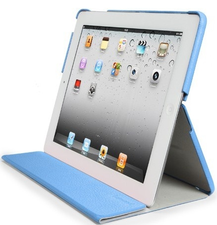 SGP Leather Case Leinwand Series Tender Blue for iPad 2