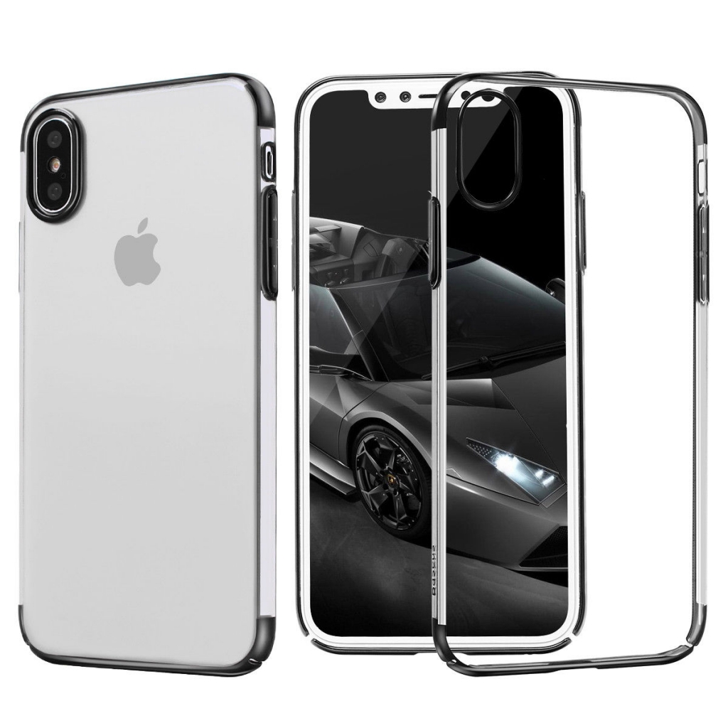 Baseus Glitter Case Black for iPhone X