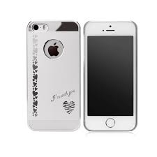 Чехол-накладка для Apple iPhone 5/5S - iBacks Heart серебристый