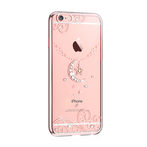 Kingxbar Love of Crystal для iPhone 6/6S Star and Moon Rose Gold