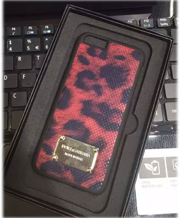 Чехол DOLCE & GABBANA для iPhone6/6S Leopard Print - Red