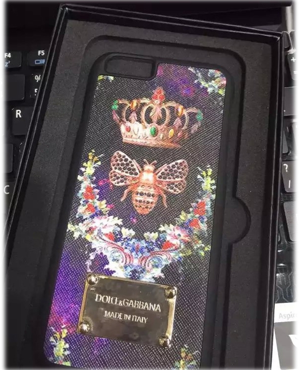 Чехол DOLCE & GABBANA для iPhone6/6S Dragonfly - Violet