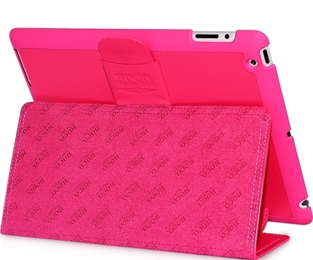 HOCO Ultra Thin Fashion Leather Case for iPad 2 pink