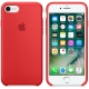 Apple Silicone Case for iPhone 7 - Red (Hi-Copy)